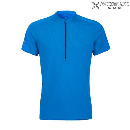 Montura Outdoor Time Zip T-Shirt Men - blue