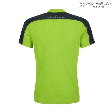 Montura Outdoor Time Zip T-Shirt Men - light green