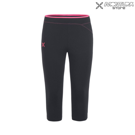 Montura Run Easy 3/4 Pants Hose Damen - schwarz/pink