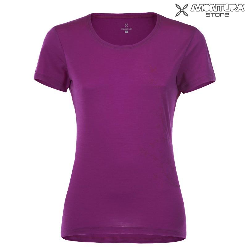 dddfdb218a5f8 Montura Merino Bloom T-Shirt Women - violett Montura Online Shop ...
