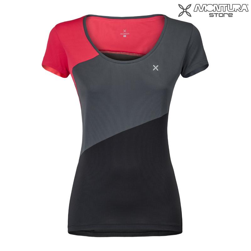 Montura Outdoor Style T Shirt Damen pinkschwarz