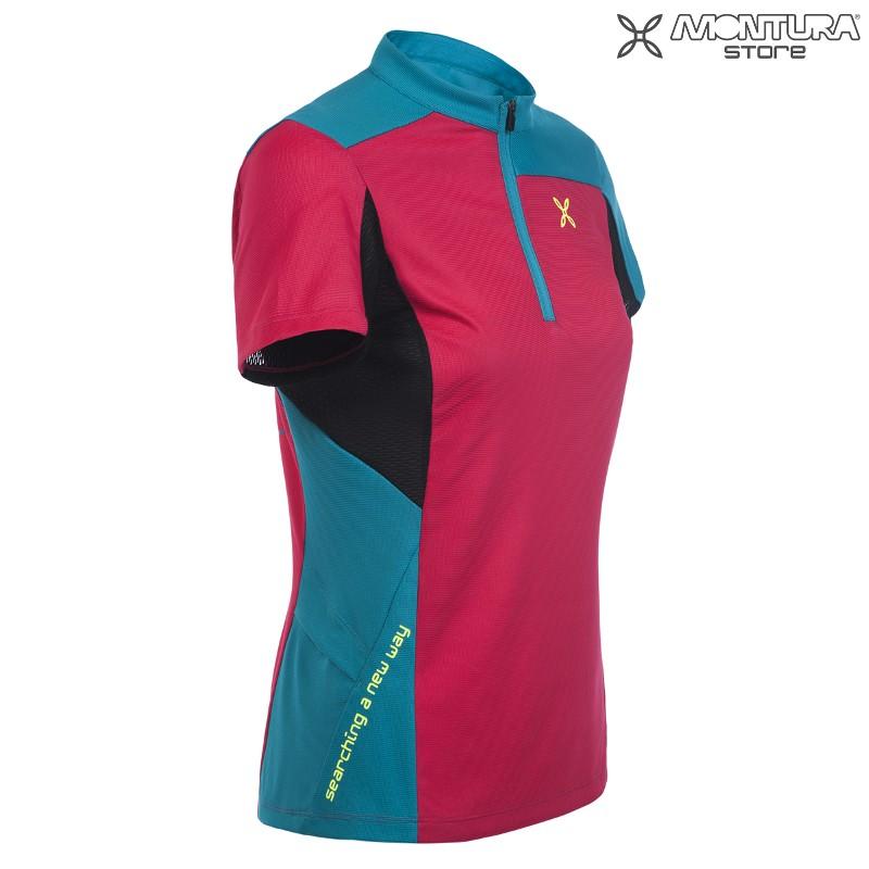 7c60b7939c97c Montura Selce Zip T-Shirt Women - violett/petrol Montura Online Shop ...