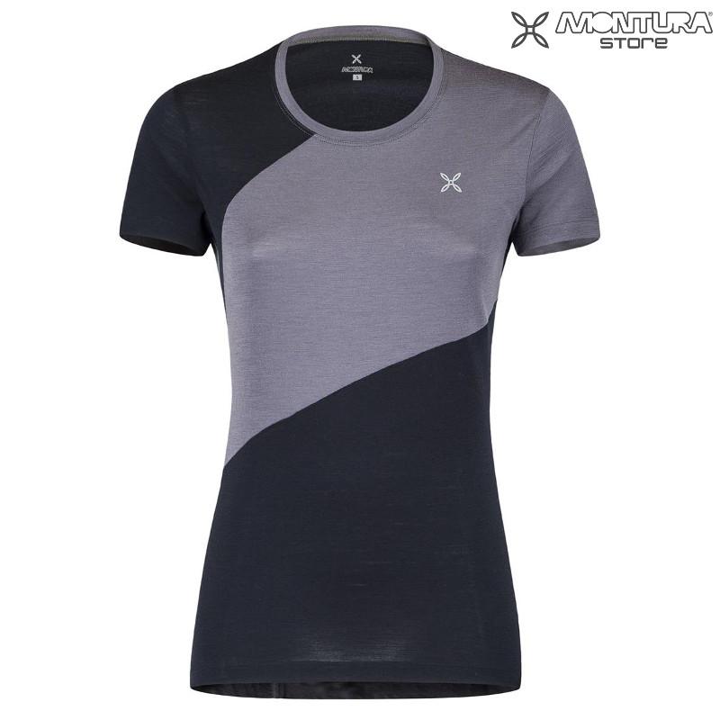 e767fd5c1a8090 Montura Merino Style T-Shirt Women - nightblue malve Montura Online ...