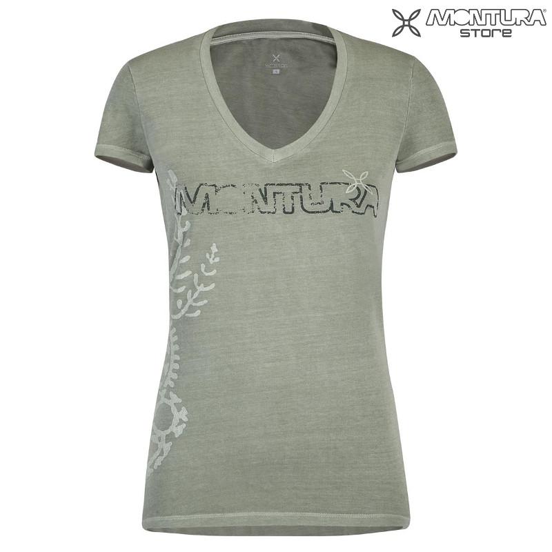 55f242b732f8e2 Montura Tattoo T-Shirt Women - light khaki Montura Online Shop ...